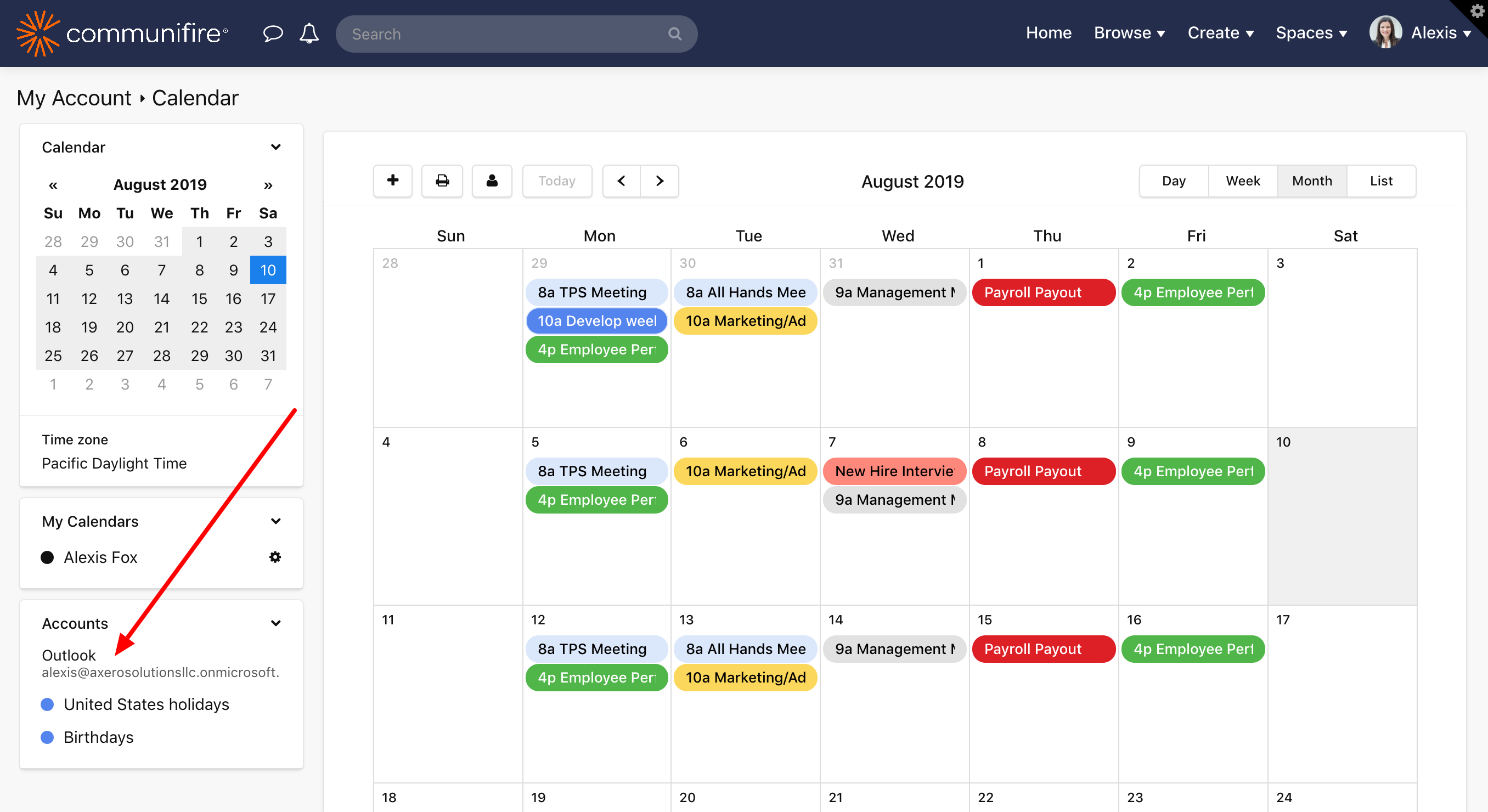 Outlook 365 Calendar Sync | Communifire Documentation