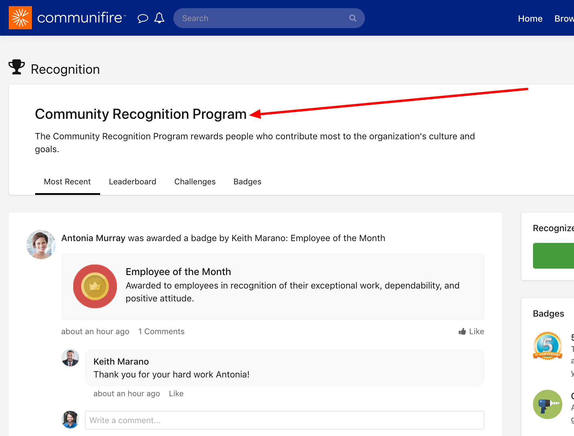 Select the recognition program.