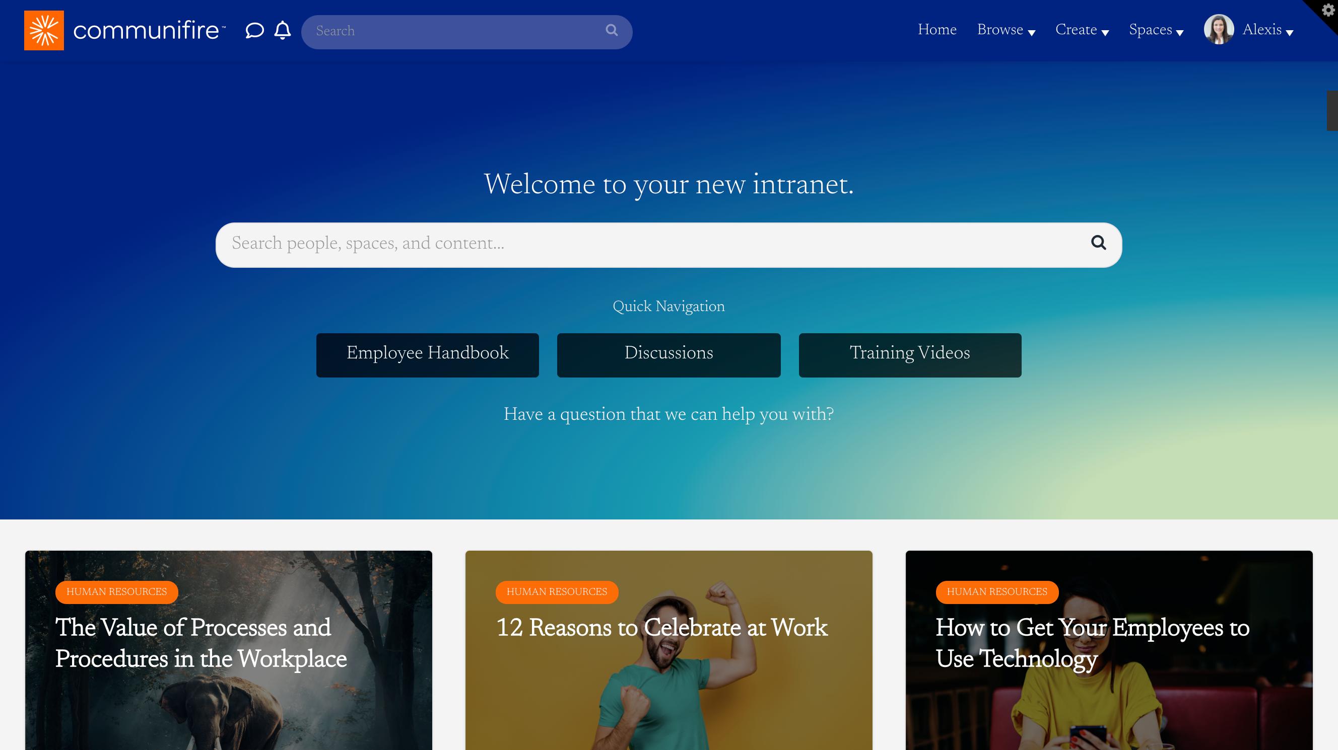 Homepage using Newsreader font