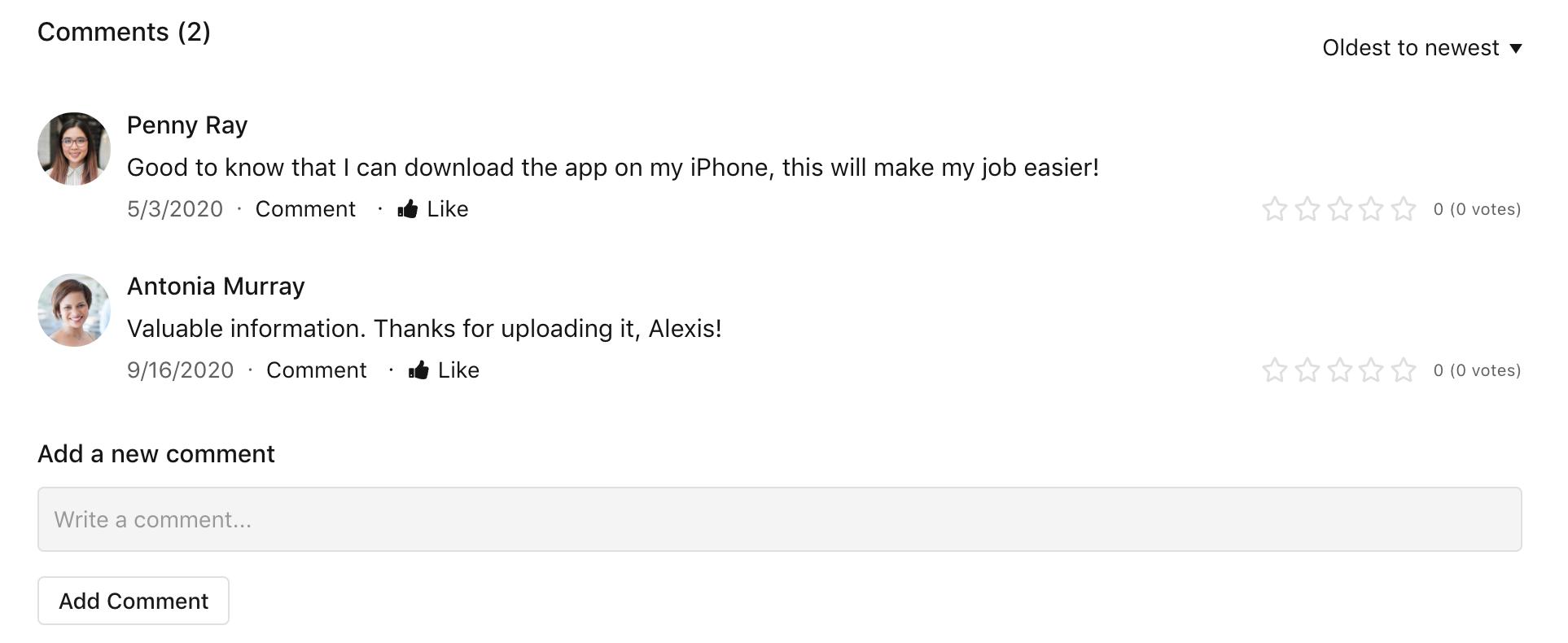 File comments