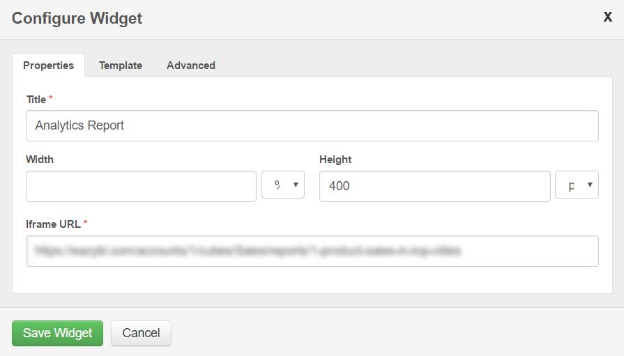IFrame Widget   Communifire Documentation