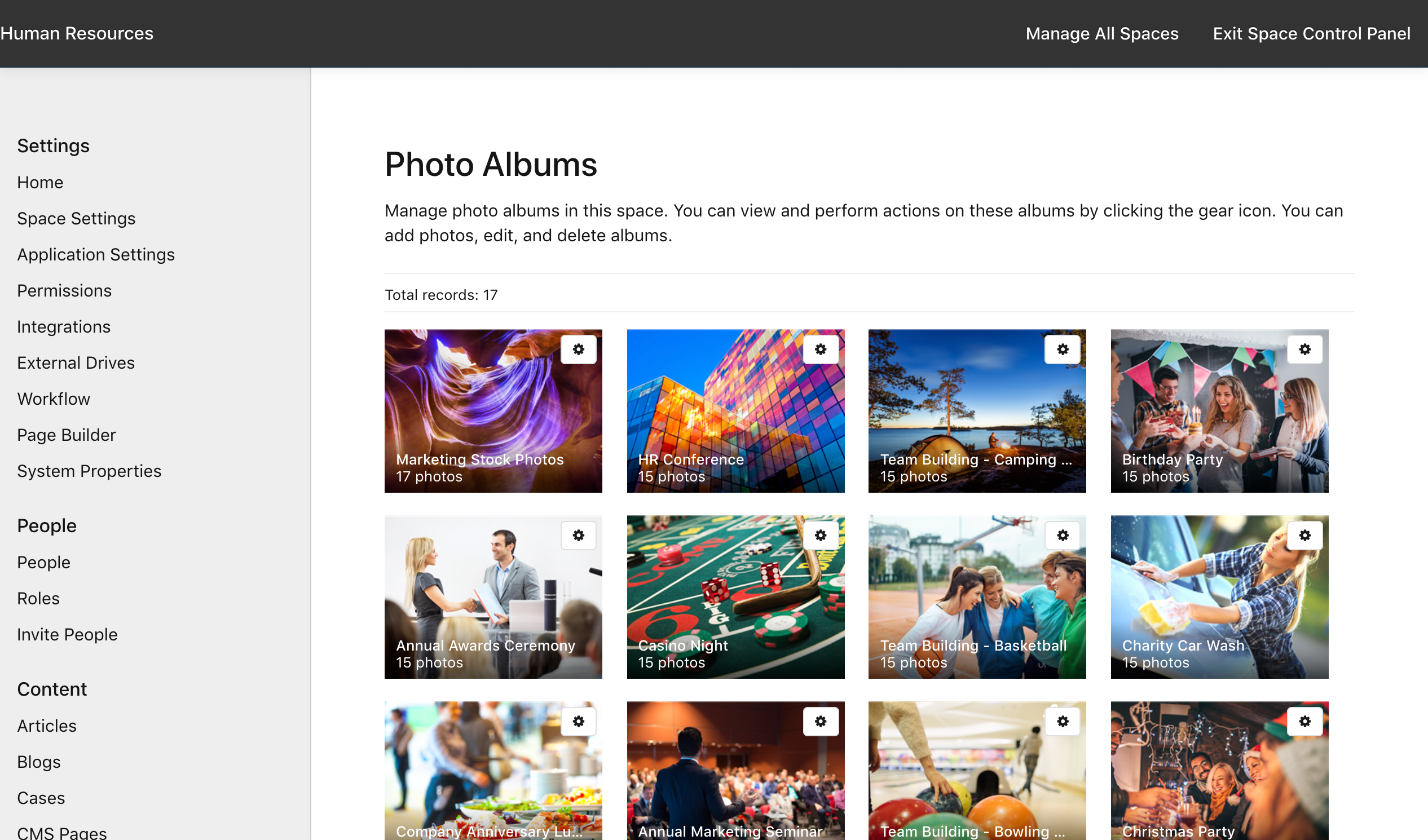 Manage Space > Photos