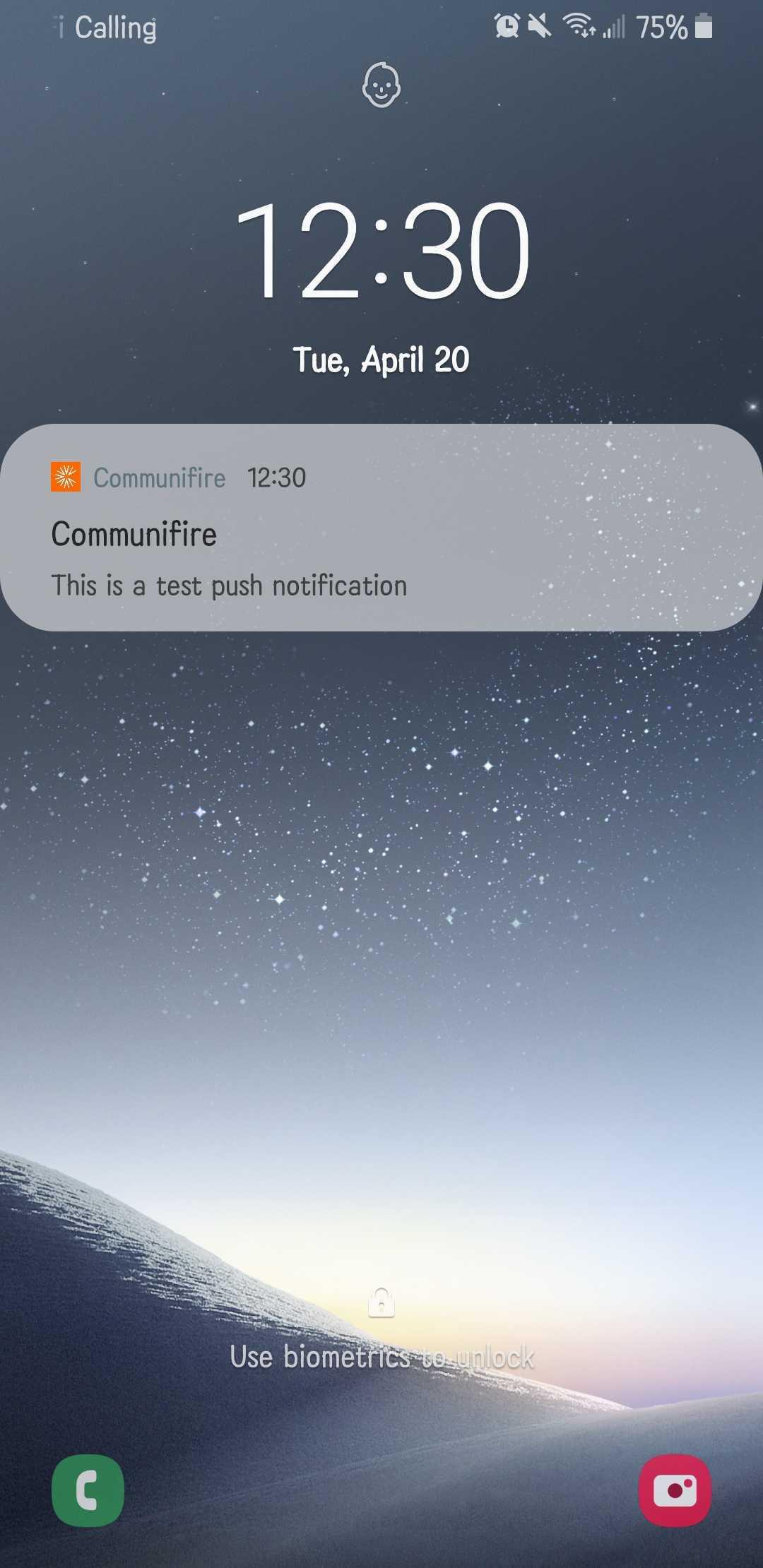 Test push notification