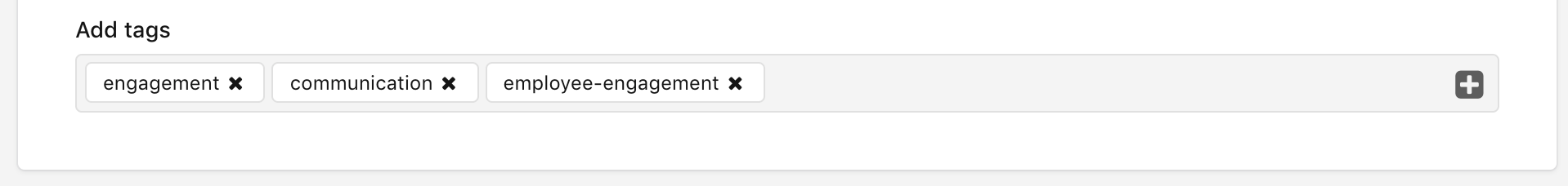 Adding tags to content