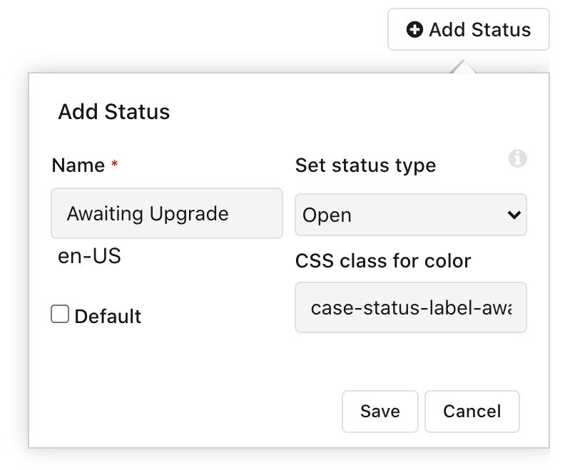 Adding Awaiting Upgrade status