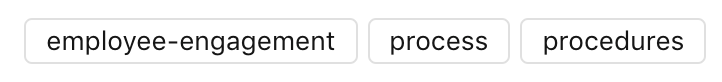 Tags on published content