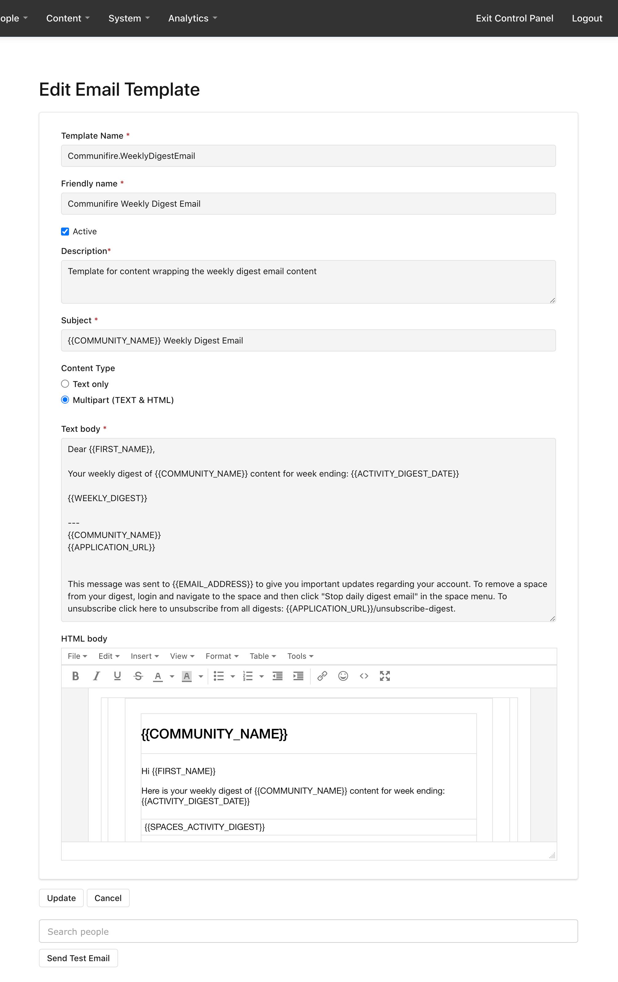 Editing Communifire.WeeklyDigestEmail