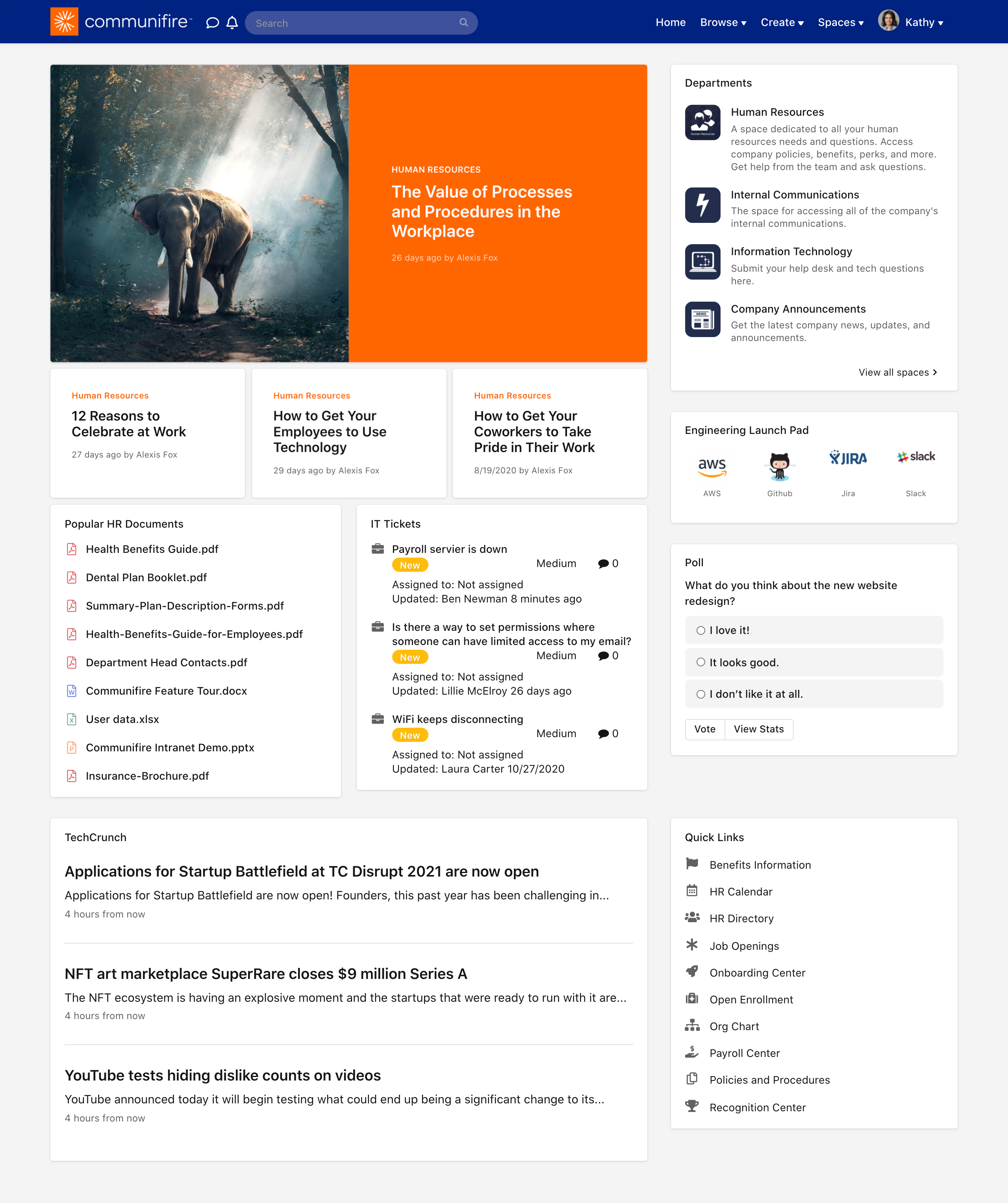 Engineering team member's homepage